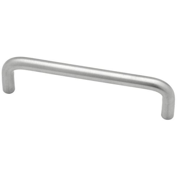 3-3/4 in. (96mm) Center-to-Center Satin Chrome Wire Drawer Pull