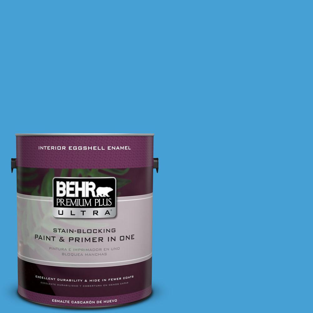 BEHR Premium Plus Ultra 1-gal. #P500-5 Peaceful River Eggshell Enamel Interior Paint