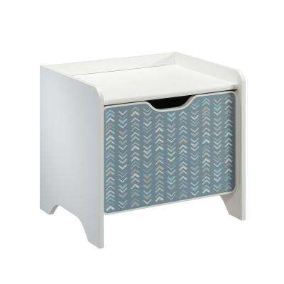 Pinwheel 1-Drawer Soft White Nightstand