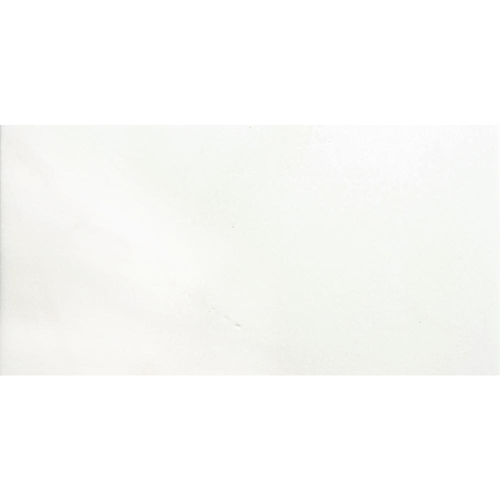Marble Thassos White Polished 12.01 in. x 24.02 in. Marble Floor