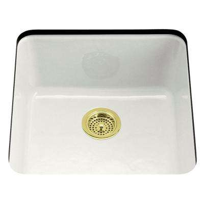 Iron/Tones Dual Mount Cast-Iron 21 in. Single Bowl Kitchen Sink in White