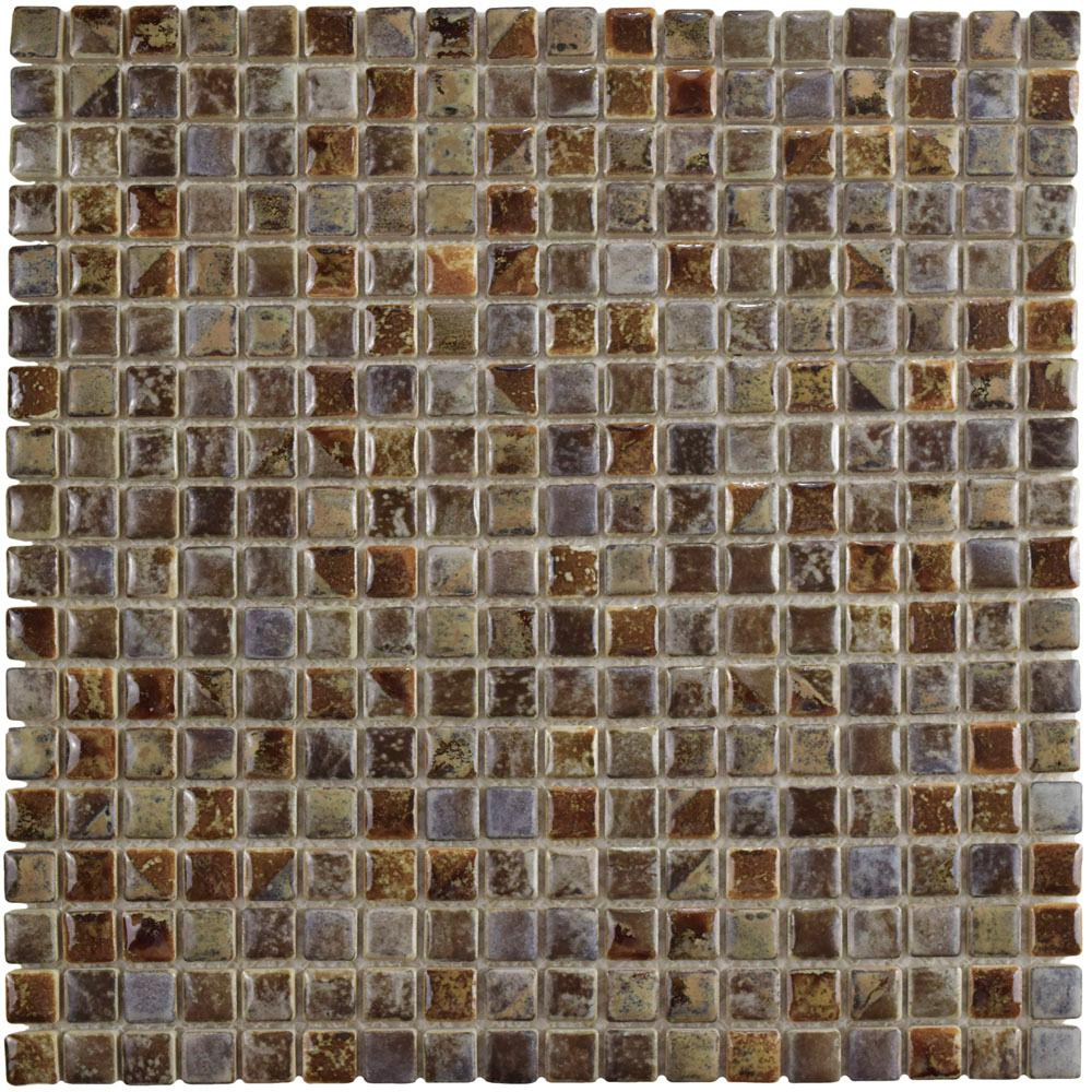 Merola Tile Rustica Mini Noce Slate 12 In X 12 In X 8 Mm Porcelain Mosaic Tile Fcp96rns The Home Depot
