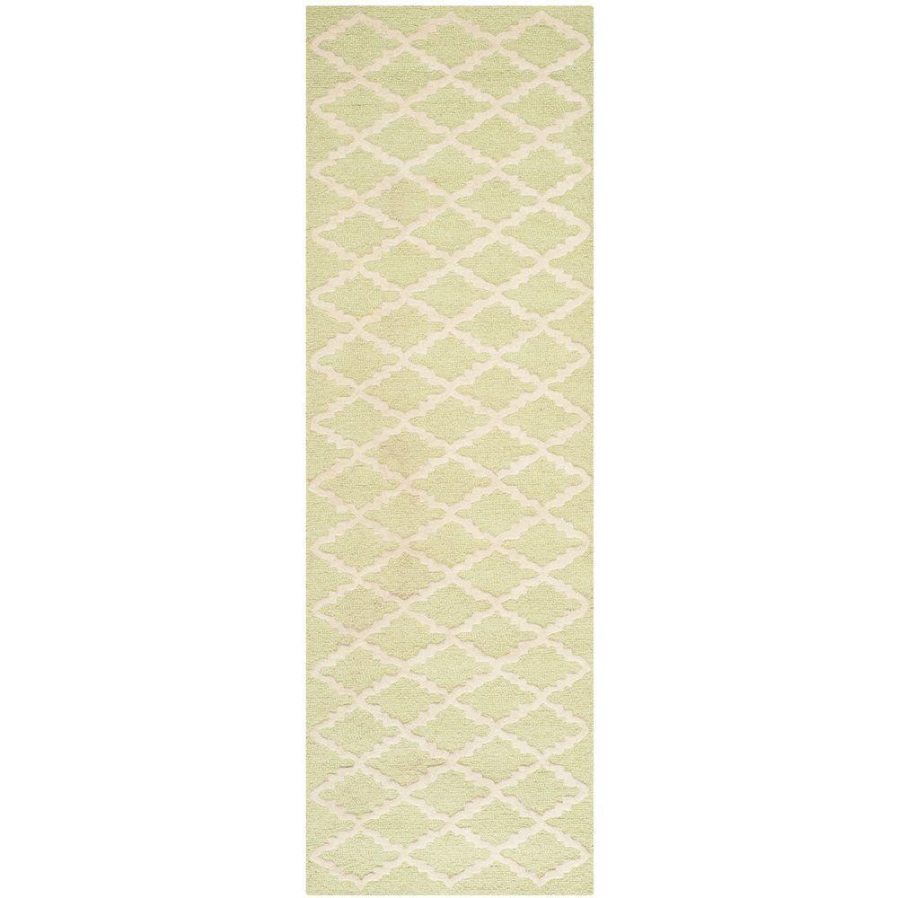 Safavieh Cambridge Light Green/Ivory 2 ft. 6 in. x 8 ft. Runner