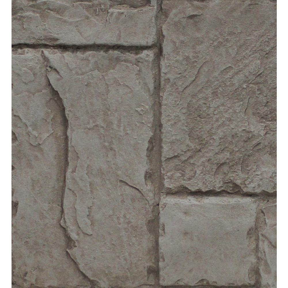 Gray Rock 8 in. x 8 in. x 3/4 in. Faux Windsor Stone Sample