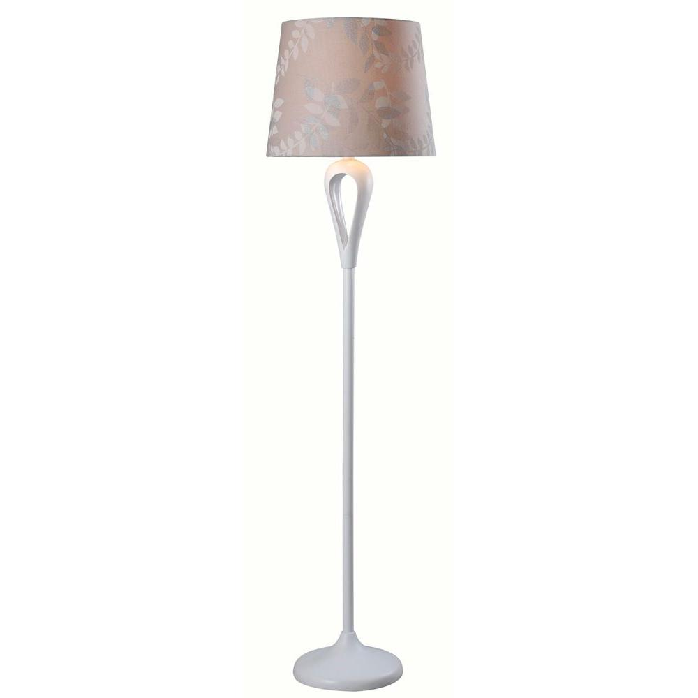 Parfume 59 in. White Floor Lamp