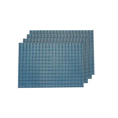 Checkers Blue Placemat (Set of 4)