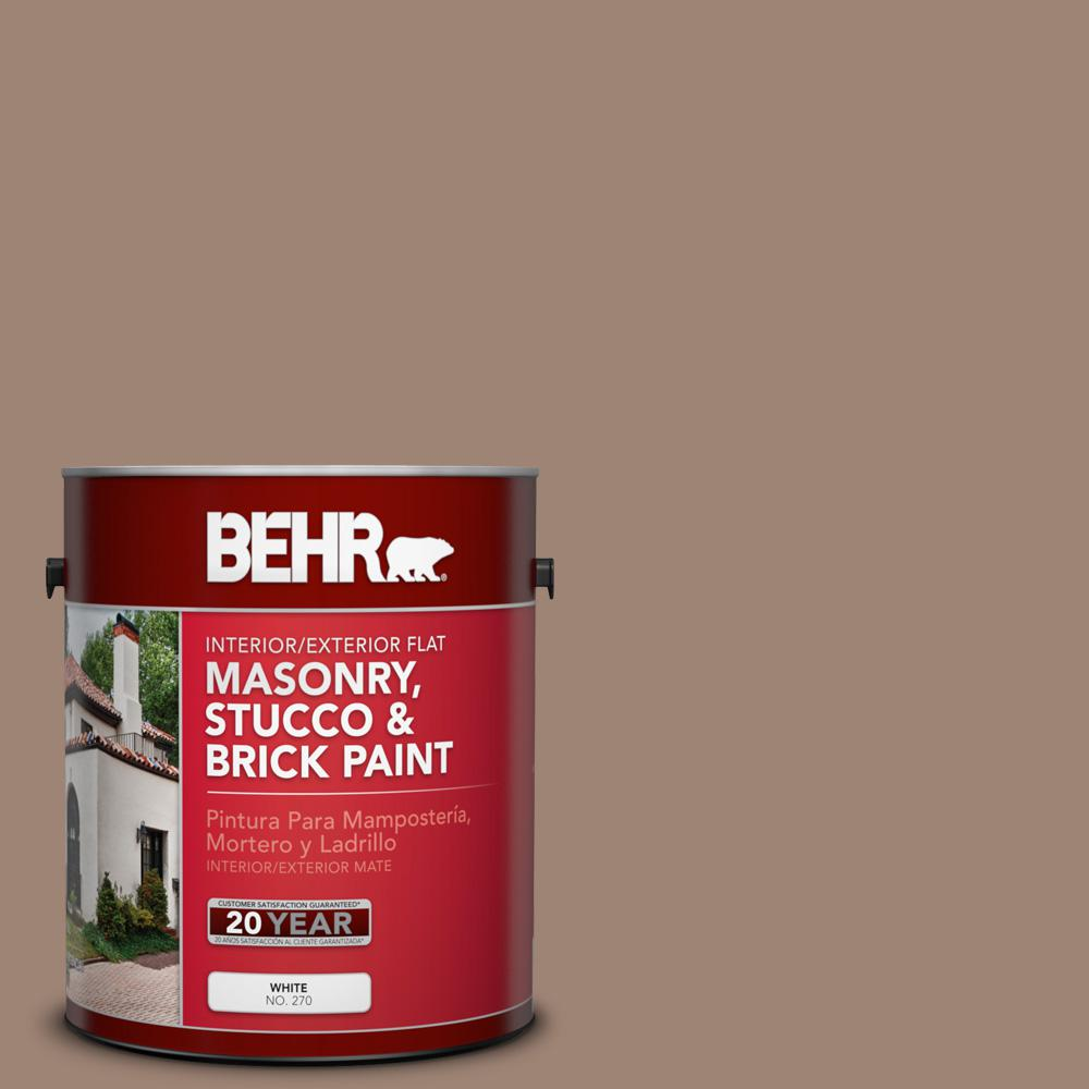 1 gal. #760B-5 Blanket Brown Flat Interior/Exterior Masonry, Stucco and Brick