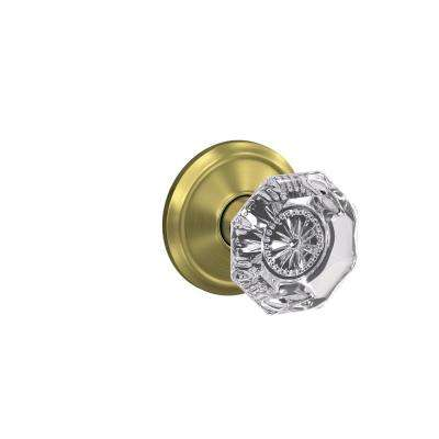 Marvelous Custom Alexandria Satin Brass Alden Trim Dummy Glass Door Knob