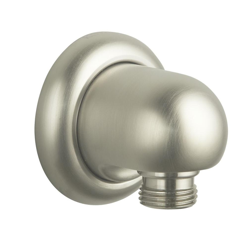 null MasterShower Wall Supply Elbow in Vibrant Brushed Nickel
