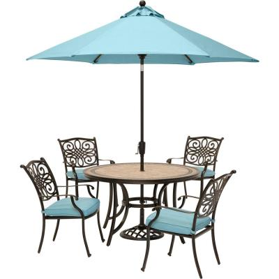 Seats 4 People Umbrella Included Patio Dining Sets Patio Dining Furniture The Home Depot