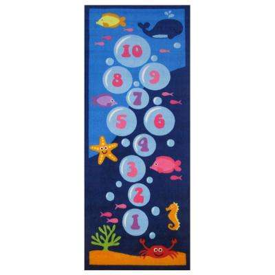 Fun Time Underwater Hopscotch Multi 3 ft. x 7 ft. Area Rug
