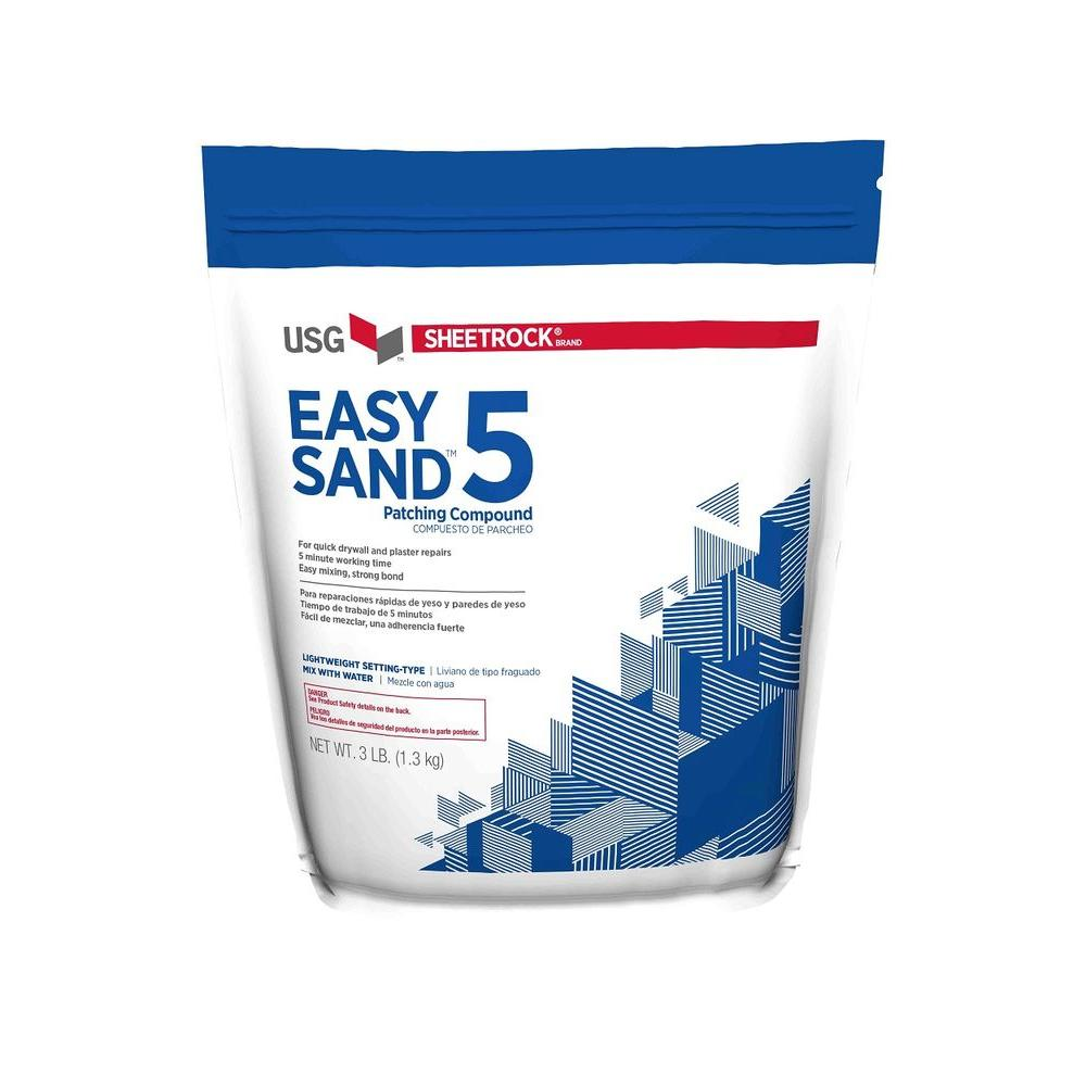 Usg Sheetrock Brand 3 Lb Easy Sand 5 Lightweight Setting Type Joint Compound 384024 The Home Depot