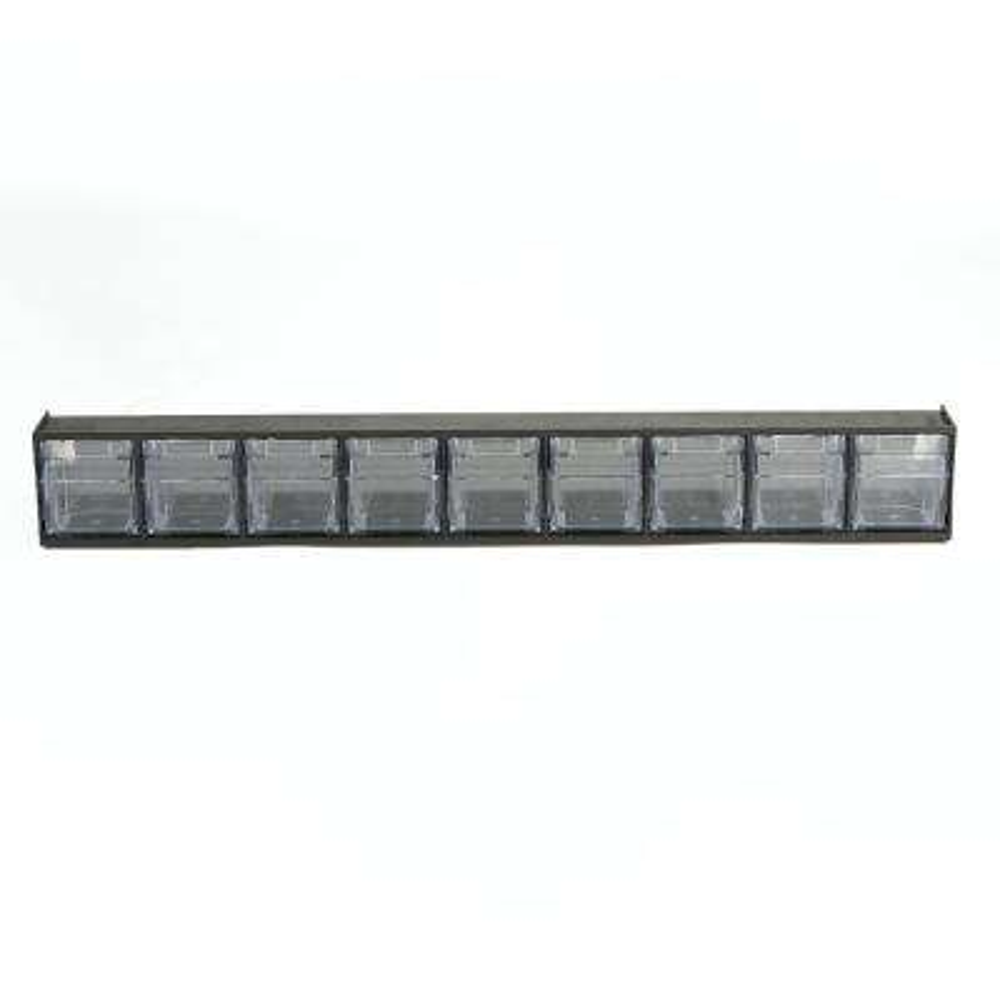 Multi Purpose Storage Tilt Drawer with 9-Removable Bins, Black