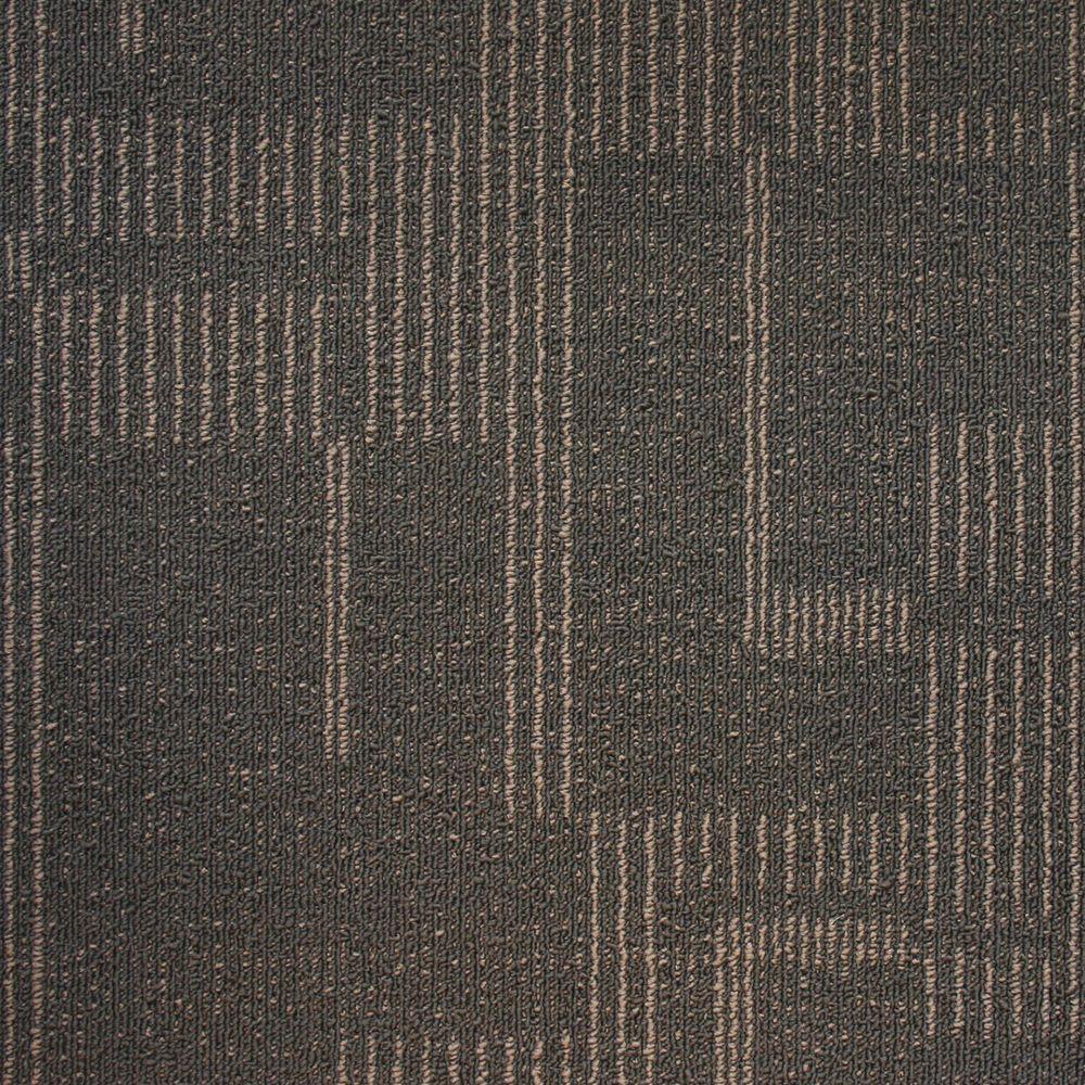 Windsor Terrace Lead Loop 19.7 in. x 19.7 in. Carpet Tile (20 Tiles/Case)