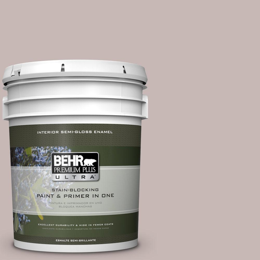5 gal. #HDC-CL-25G Georgian Pink Semi-Gloss Enamel Interior Paint