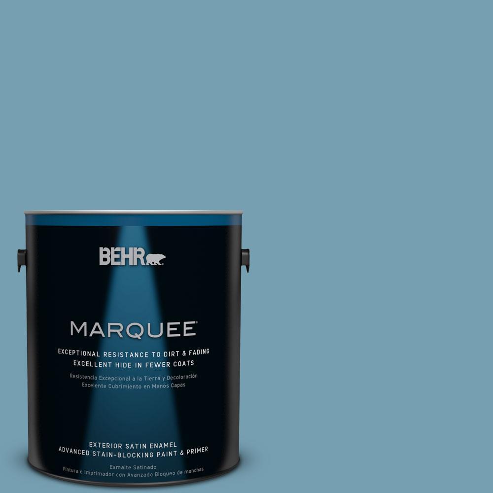 1-gal. #S480-5 Blue Moon Bay Satin Enamel Exterior Paint