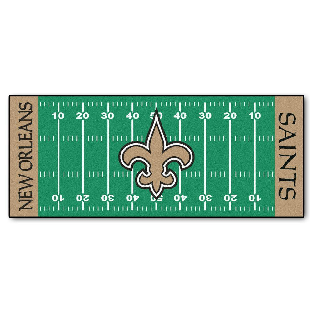 Fanmats New Orleans Saints 3 Ft X 6 Ft Football Field