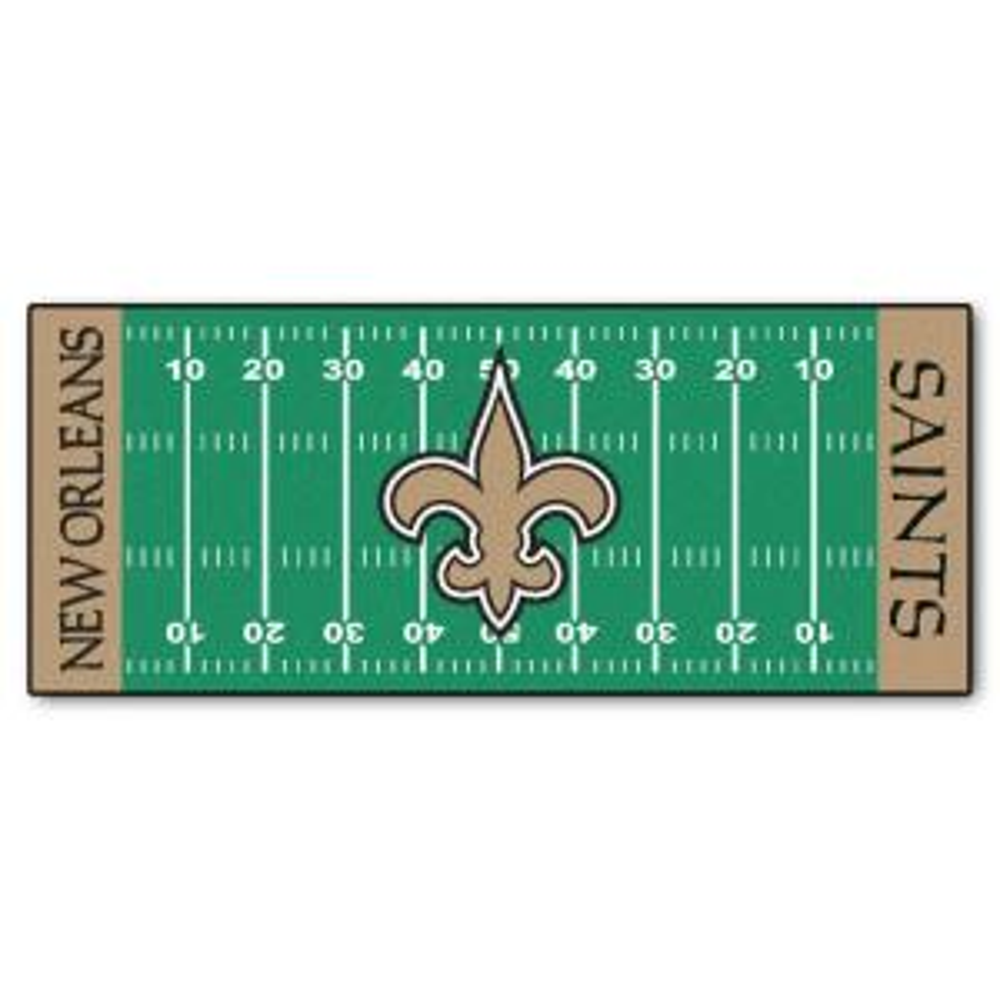 Fanmats New Orleans Saints 3 Ft X 6 Ft Football Field Rug Runner Rug 7359 The Home Depot