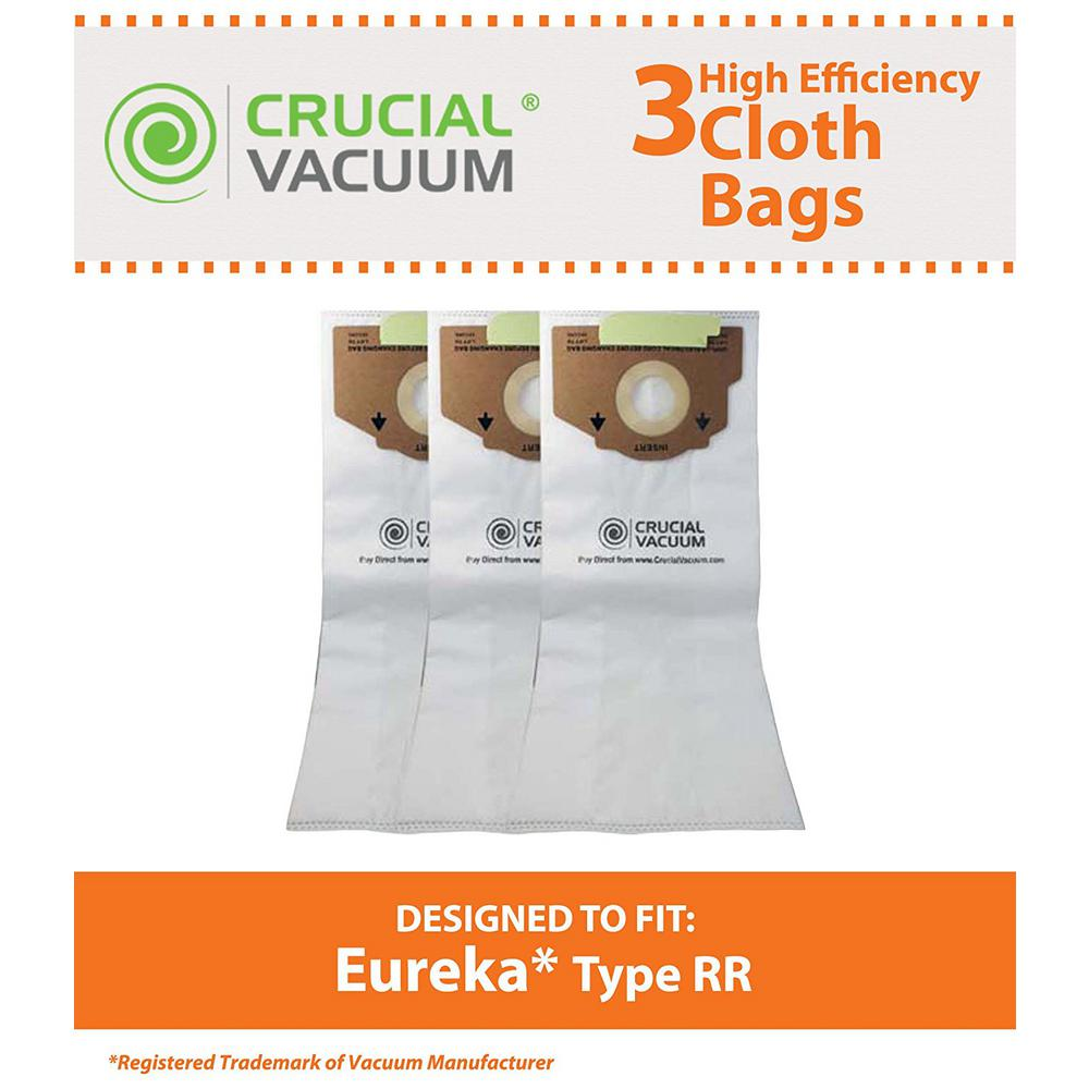 Think Crucial 3 Pack Replacement Style Rr Cloth Bags Fits Eureka Compatible With