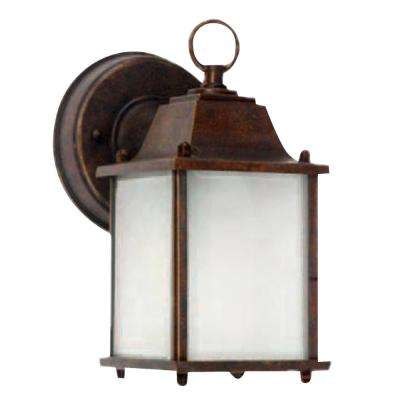 Chaz 1-Light Outdoor Brown Wall Lantern