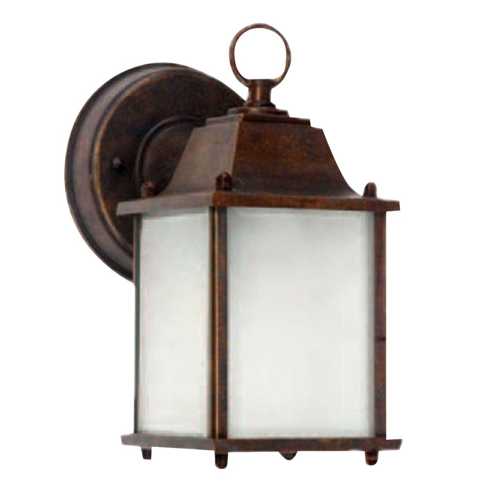 Chaz 1 Light Outdoor Brown Wall Lantern Sconce