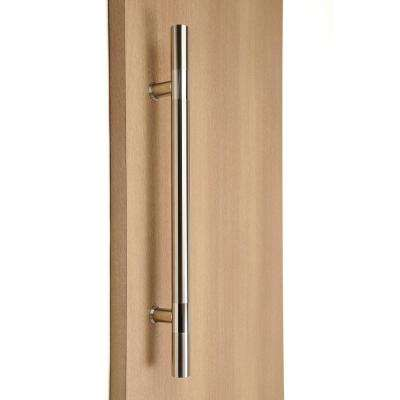 12 in. x 1 in. Ladder Style Back-to-Back Brushed Satin Stainless Steel Door Pull Handleset with Easy Installation
