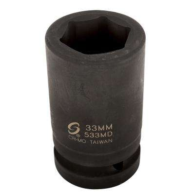 1 in. Drive Deep Metric Impact Socket