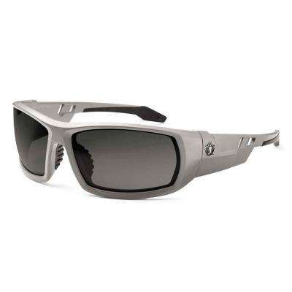 Skullerz Odin Matte Gray Polarized Safety Glasses, Tinted Lens - ANSI Certified