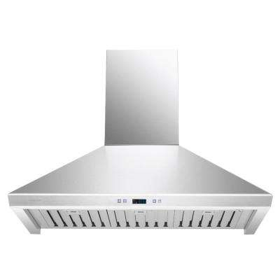 36 in. Convertible Range Hood with Light in Stainless Steel