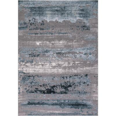 Thema Lakeside Teal 8 ft. x 11 ft. Area Rug