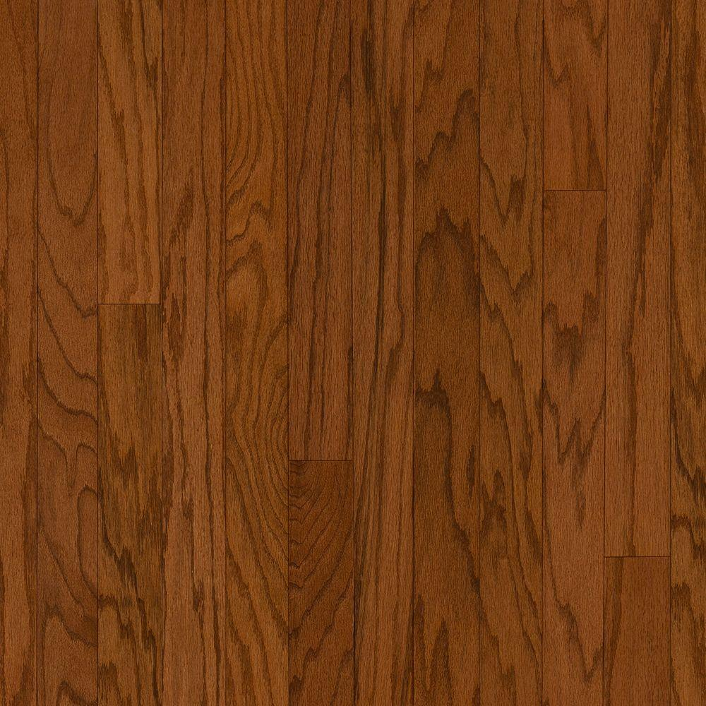 Bruce Oak Gunstock 3/8 in. Thick x 5 in. Wide x Random Length Engineered Hardwood Flooring (30 sq. ft. /case)