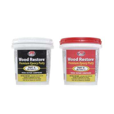 J-B Weld Wood Restore Premium Epoxy Putty - 12 oz. (Case of 6)