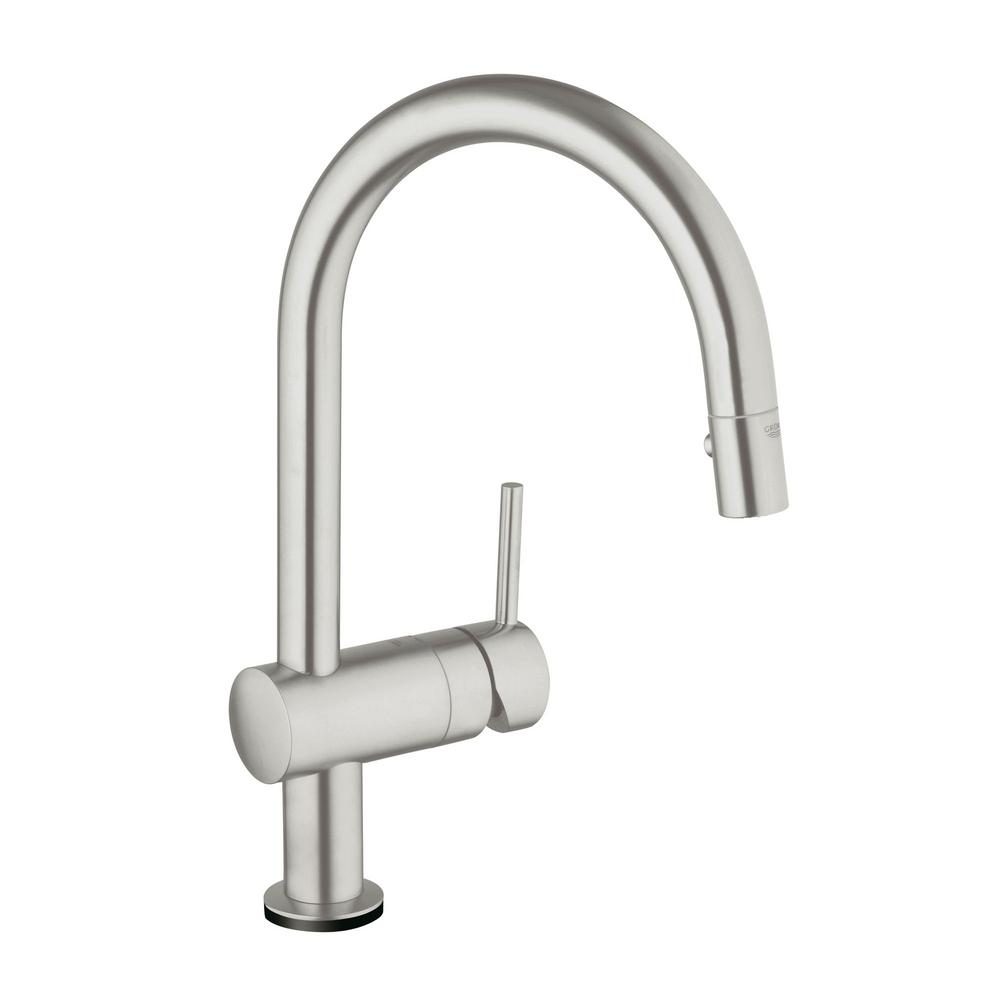 GROHE Minta Touch Single-Handle Pull-Down Sprayer Kitchen Faucet in ...