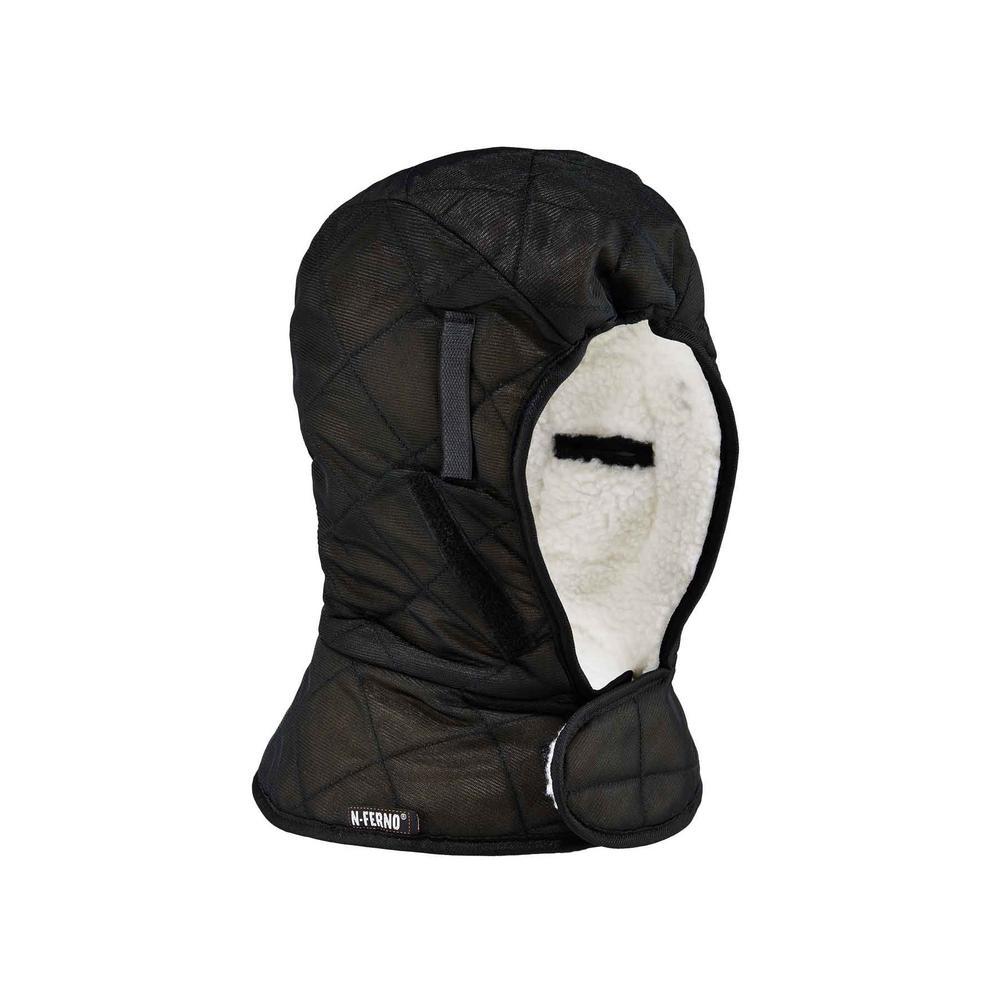 N-Ferno 6952 Black Shoulder Length 3-Layer w/Sherpa Fleece Winter Hard Hat Liner