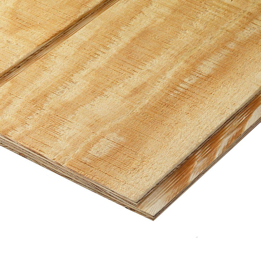 plytanium plywood siding panel t1-11 8 in oc (nominal: 19/32 in. x 4 ft. x  8 ft. ; actual: 0.563 in. x 48 in. x 96 in. )