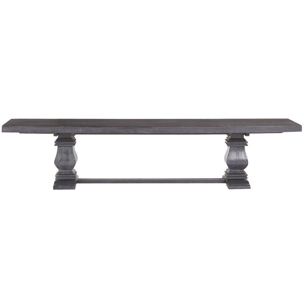 Merveilleux Home Decorators Collection Aldridge Washed Black Wood Dining Bench