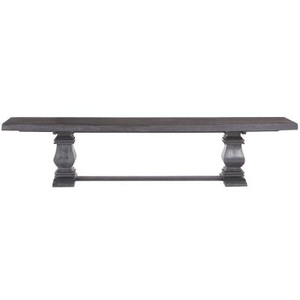Aldridge Washed Black Wood Dining Bench
