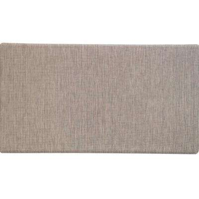 Duraweave Brown Linen 20 in. x 36 in. Foam Mat