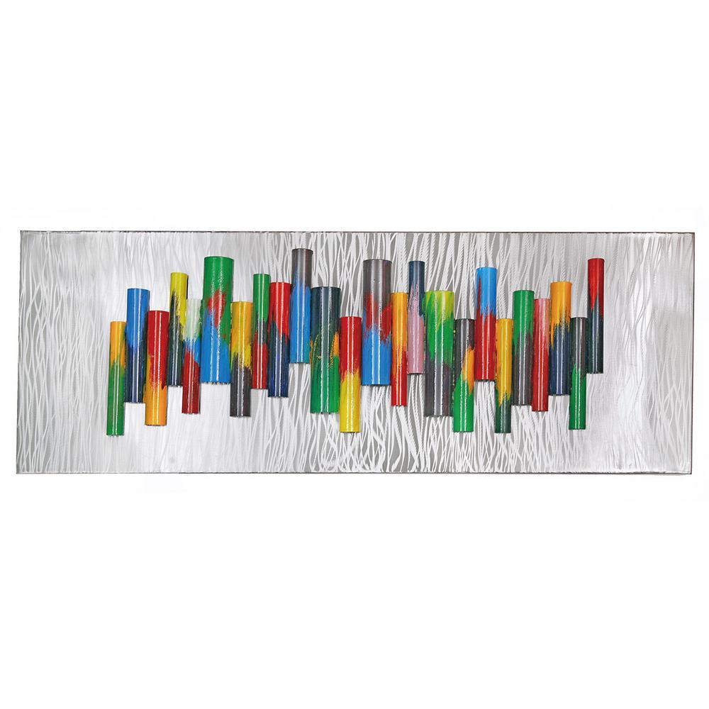 Metal Multicolor Chime Wall Mountable Original Artwork