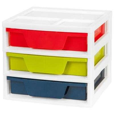14.6 in. x 12.75 in. 3-Drawer Activity Chest with Organizer Top