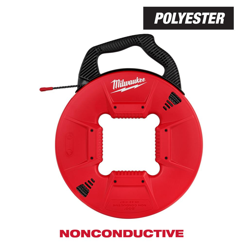 Milwaukee 200 ft. Polyester Fish Tape with Non-Conductive Tip