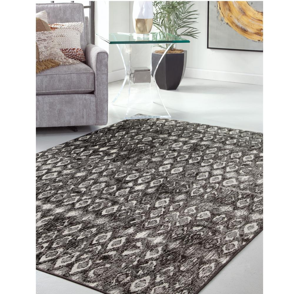 Sonoma Mabel Charcoal Grey Ivory 8 Ft X 11 Area Rug