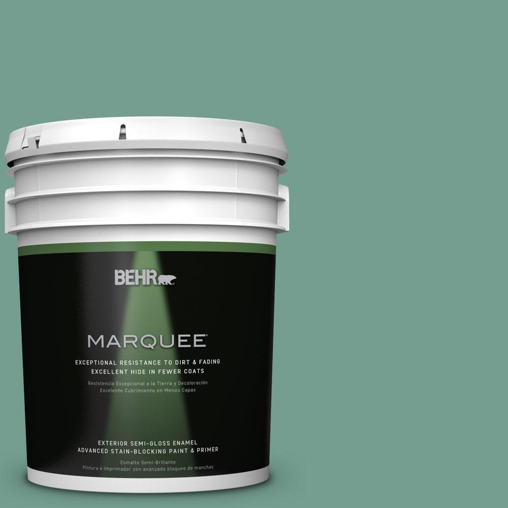 BEHR MARQUEE 5-gal. #M430-5 Regal View Semi-Gloss Enamel Exterior Paint