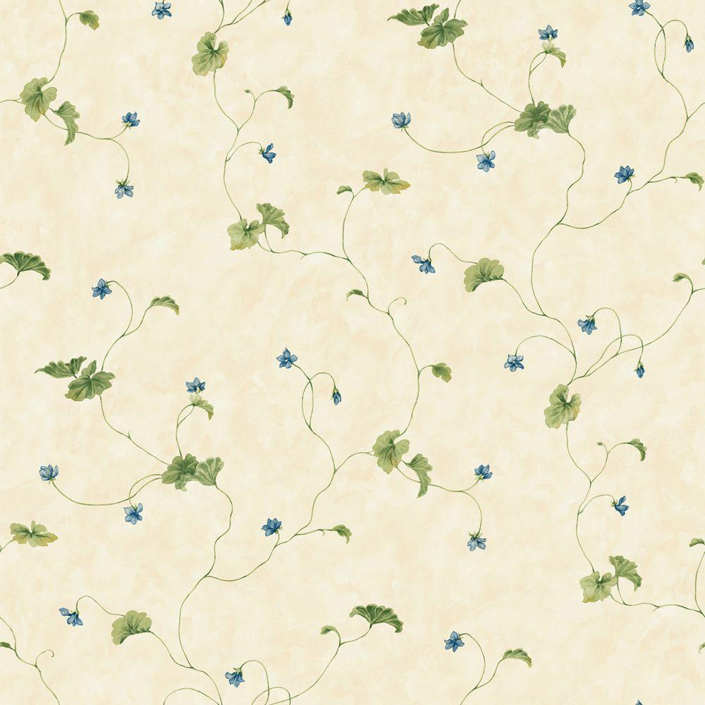 The Wallpaper Company 56 sq. ft. Green Willow Trail Wallpaper