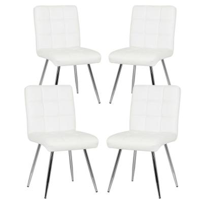 Pleasing 4 White Dining Chairs Kitchen Dining Room Furniture Ibusinesslaw Wood Chair Design Ideas Ibusinesslaworg