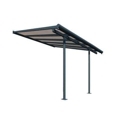 Sierra 10 ft. x 10 ft. Gray/Bronze Patio Cover Awning