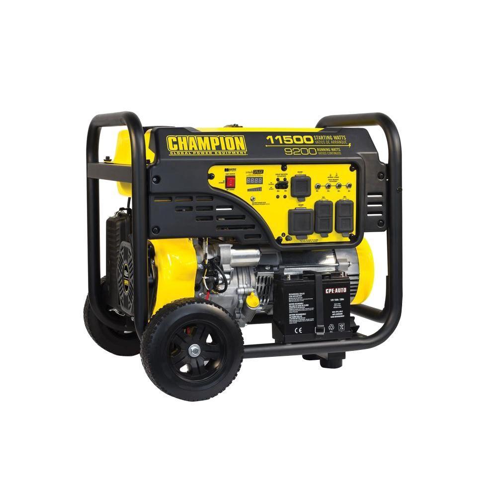 Champion Power Equipment 9,200-Watt Gasoline Powered Electric Start Portable Generator by Champion Power Equipment