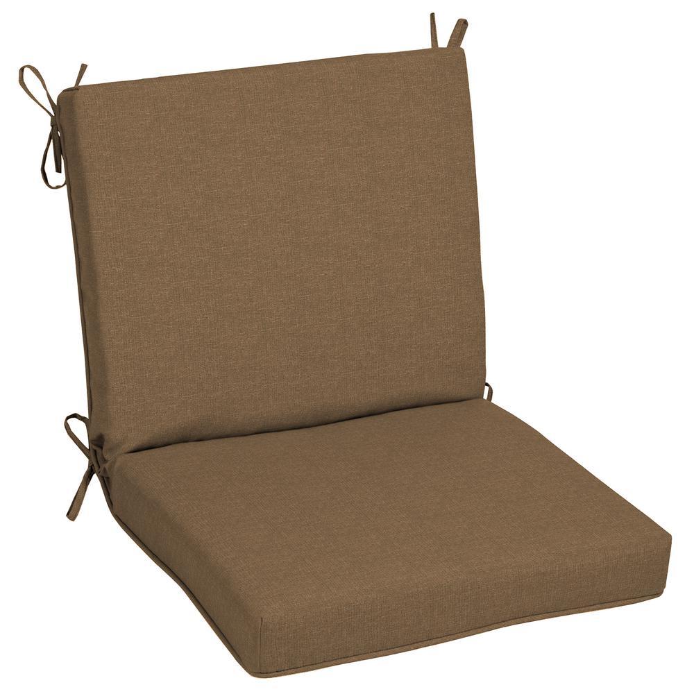 Oak Cliff 22 x 40 Sunbrella Cast Teak Mid Back Outdoor Dining Chair Cushion