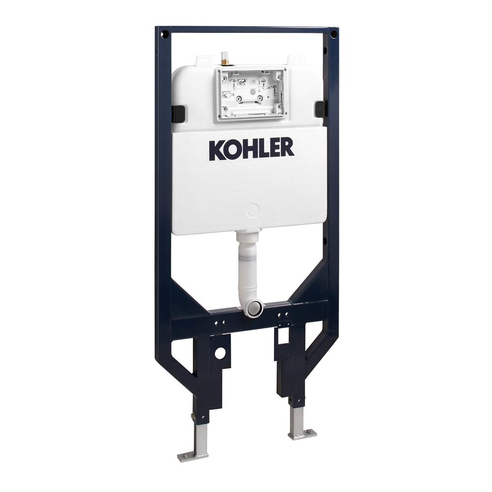 Kohler Veil 0 8 Gpf Or 1 6 Dual Flush In Wall Toilet Tank And Carrier