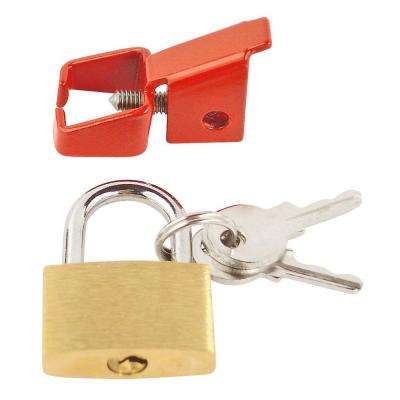 Universal Breaker Lock with Padlock and Key